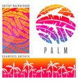 tropical palm tree pink vector image