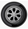 Wheel-tyre vector image