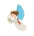 angel arrow arch instrument icon vector image