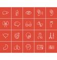 Medicine sketch icon set vector image