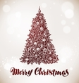 Merry Christmas Xmas tree with decorations vector image
