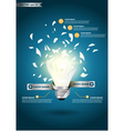 Creative Template with idea bulb explode vector image vector image