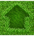 Home on green grass vector image vector image