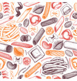 background with italian pasta vector image