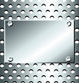 Seamless stainless grid with bolted plate vector image