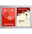 healthcare brochure vector image