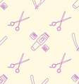 deco hairdresser tools seamless pattern vector image