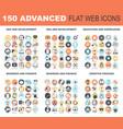 advanced flat web icons vector image