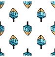 Chanukah seamless pattern with sevivon Jewish vector image