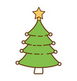 christmas tree in pot vector image