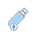 disk drive fast flash storage usb icon vector image