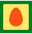Egg flat orange and yellow colors rounded button vector image