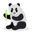 panda cartoon flat vector image