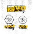 raw honey creative sign concept organic vector image