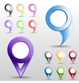 Set of multicolored circle pointers vector image