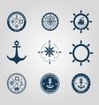 Set of nautical labels icons logo symbol vector image