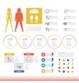 Thick slim body set icon info graphic vector image