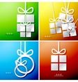 Christmas applique backgrounds vector image