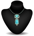 mannequin and necklace vector image