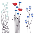 Drawing blooming flowers vector image