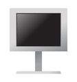 A monitor is placed vector image