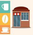 coffee shop market facade vector image