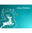 Merry Christmas beautiful vintage reindeer vector image vector image
