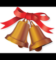 Christmas bell with bow vector image