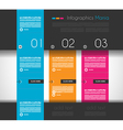 Infographic design template with flat design vector image vector image