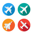 Aircraft or Airplane Flat Minimal Icons Set vector image