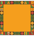 mexican frame vector image vector image