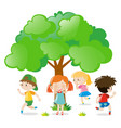 kids playing hide and seek in the park vector image