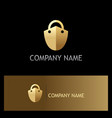 lock shield secure gold logo vector image