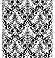 Seamless monochrome damask vintage pattern vector image
