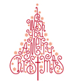 I wish you a merry Christmas card vector image