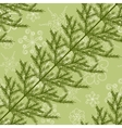 Seamless pattern with fir branches vector image