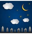 abstract night landscape vector image