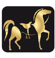 horses222 vector image