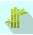 Green bamboo stem flat icon vector image