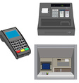 Atm pos and cash register vector image