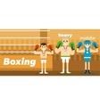 Boxing team awarding at ringside vector image