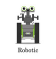 color of the robot vector image