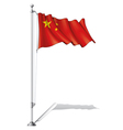 Flag Pole China vector image