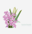 floral blossom bouquet spring summer delicate vector image