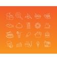 Food mono line icon set vector image