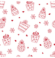 New Year and Christmas seamless pattern vector image
