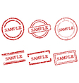 Sample stamps vector image