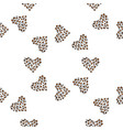 seamless pattern background heart vector image