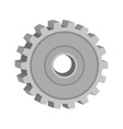 tridimensional silhouette gear wheel icon vector image