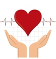 arm heart hand blood donation icon graphic vector image
